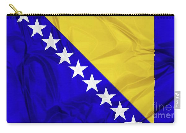 Carry-all Pouch featuring the digital art Flag Of Bosnia by Benny Marty