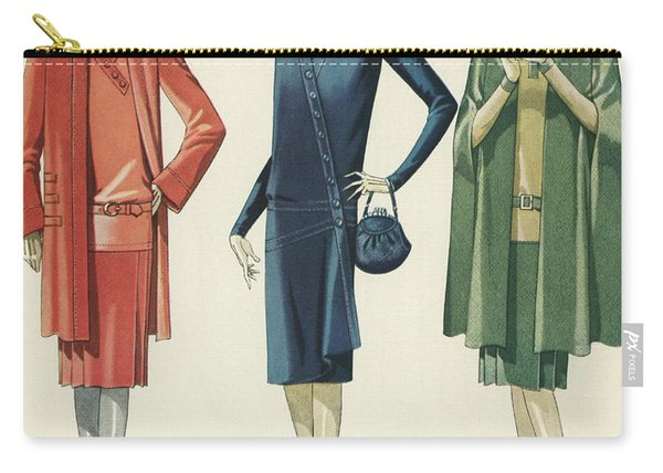 Flappers In Frocks And Coats, 1928 Carry-all Pouch