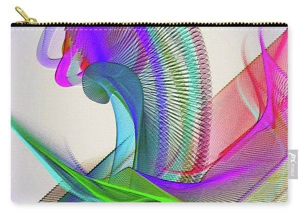 Carry-all Pouch featuring the digital art Flower Vase by Visual Artist Frank Bonilla