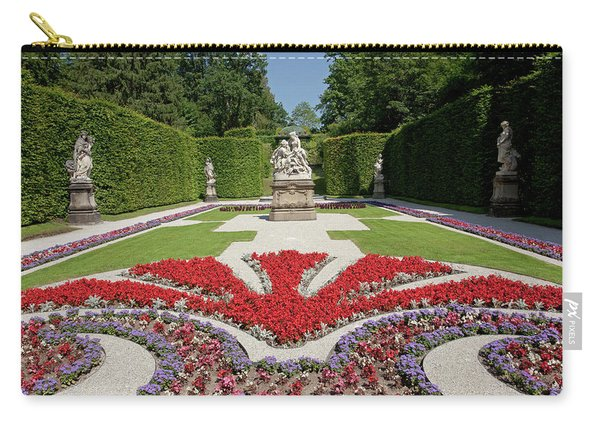 Flowerbeds And Sculptures In Eastern Parterre Carry-all Pouch