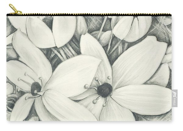 Flowers Pencil Carry-all Pouch