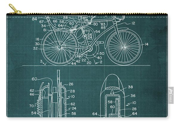 Flywheel Aided Bicycle Patent From 1977 Carry-all Pouch