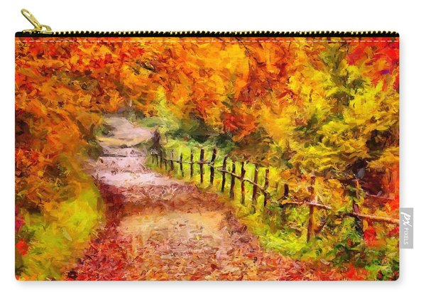 Fall Foliage Path 2 Carry-all Pouch