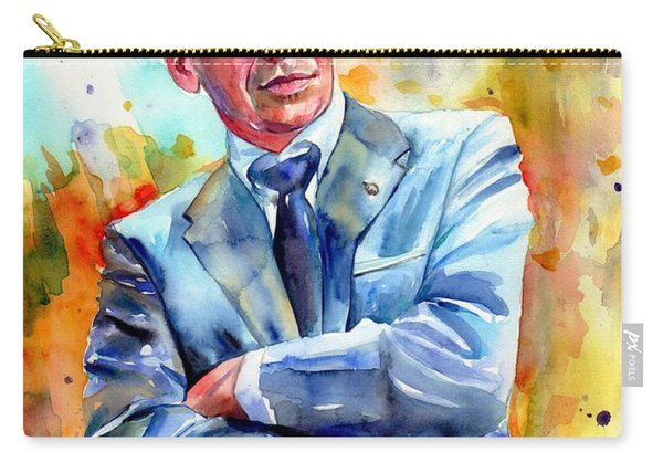 Frank Sinatra Young Painting Carry-all Pouch