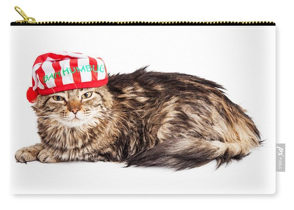Funny Grumpy Christmas Cat Carry-all Pouch