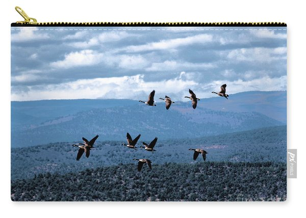 Geese In Flight Carry-all Pouch