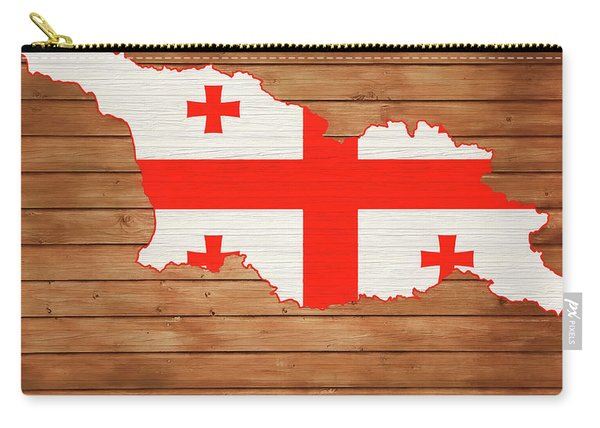 Georgia Rustic Map On Wood Carry-all Pouch