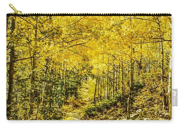 Golden Aspens In Colorado Mountains Carry-all Pouch