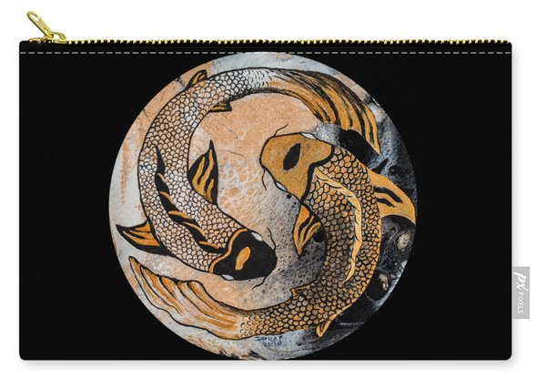 Golden Yin And Yang Carry-all Pouch