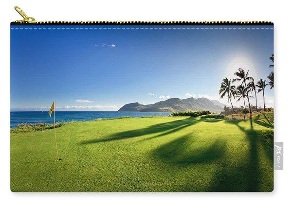 Golf Flag In A Golf Course, Kauai Carry-all Pouch