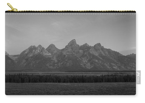 Grand Teton Mountain Range At Sunrise Panorama Carry-all Pouch