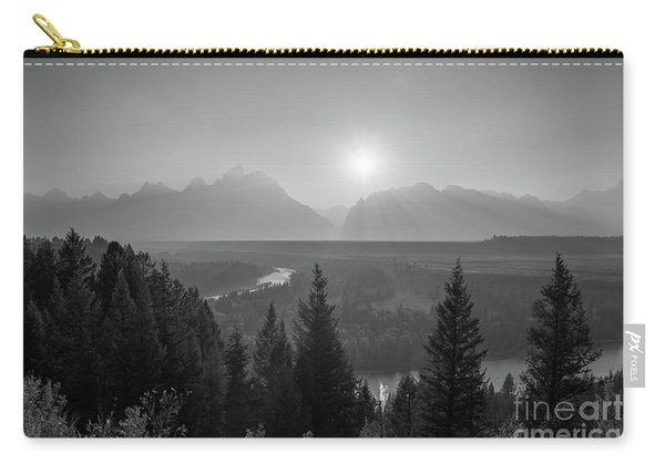 Grand Teton Sunset At Snake River  Carry-all Pouch