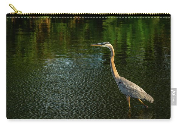 Great Blue Heron Delray Beach Florida Carry-all Pouch