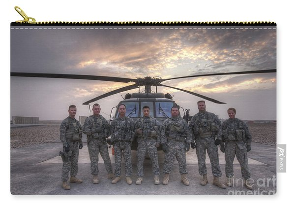 Group Photo Of Uh-60 Black Hawk Pilots Carry-all Pouch
