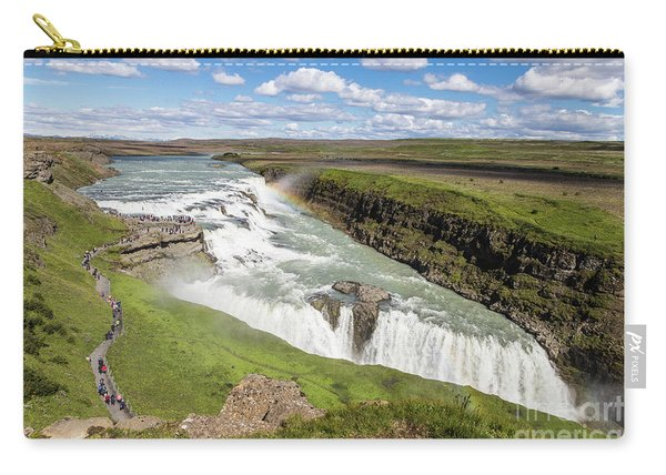 Gullfoss Waterfall In Iceland Carry-all Pouch
