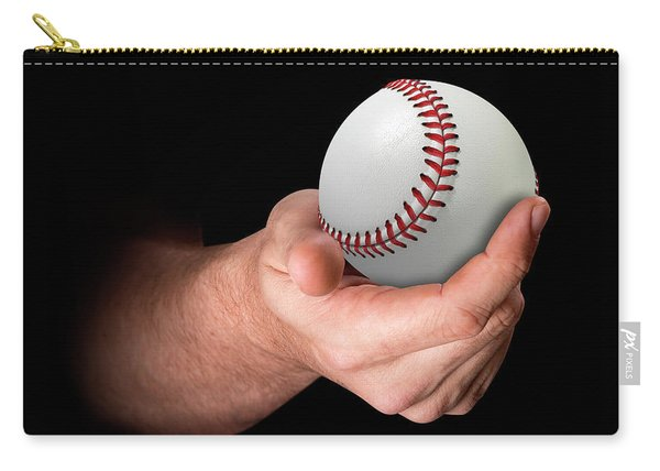 Hand Holding Baseball Carry-all Pouch