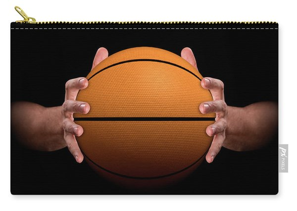 Hands Gripping Basketball Carry-all Pouch