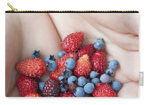 Hands Holding Berries Carry-all Pouch