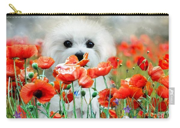 Hermes And Poppies Carry-all Pouch