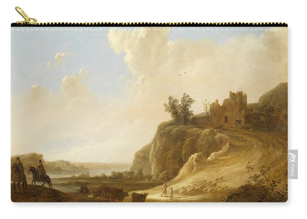 Hilly Landscape With The Ruins Of A Castle Carry-all Pouch