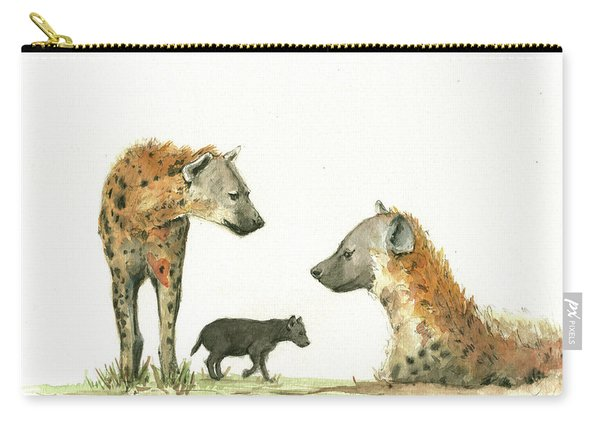 Hyena Family Carry-all Pouch