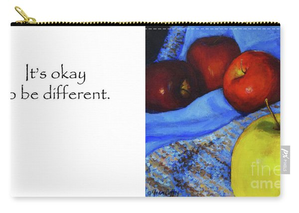 It's Okay To Be Different Title On Side Carry-all Pouch