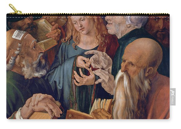 Jesus Among The Doctors Carry-all Pouch