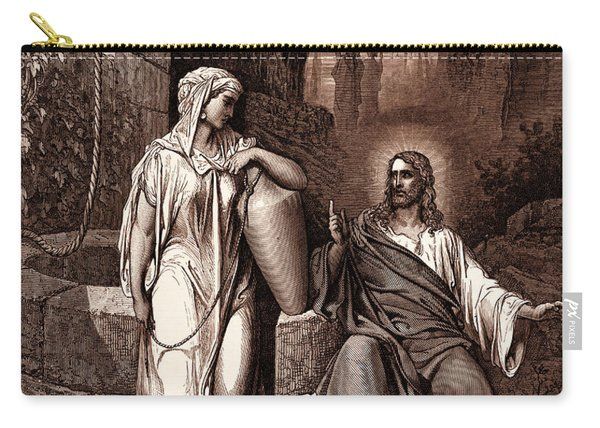 Jesus And The Woman Of Samaria Carry-all Pouch