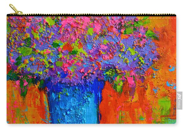 Joyful Perfection - Modern Impressionist Art - Palette Knife Work Carry-all Pouch