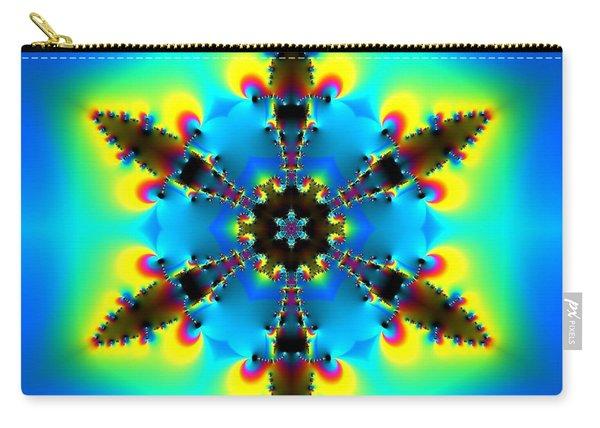 Carry-all Pouch featuring the digital art Jyoti Ahau 153 by Robert Thalmeier