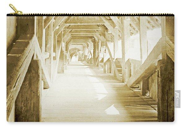 Kapell Bridge, Lucerne, Switzerland, 1903, Vintage, Photograph Carry-all Pouch