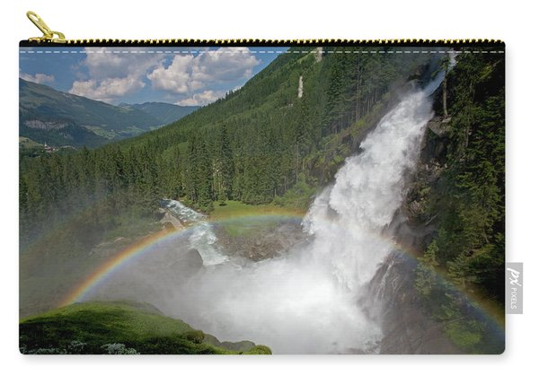 Krimml Waterfall And Rainbow Carry-all Pouch