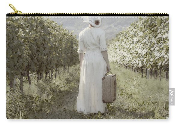 Lady In Vineyard Carry-all Pouch