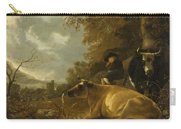 Landscape With Cows And A Shepherd Boy Carry-all Pouch