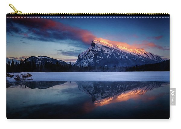 Last Light On Mount Rundle Carry-all Pouch