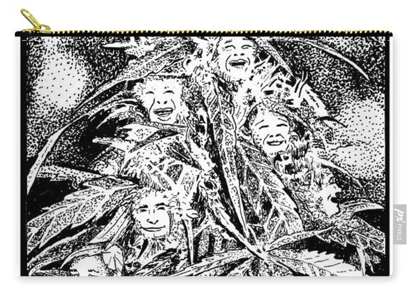Laughing Grass Bw Carry-all Pouch