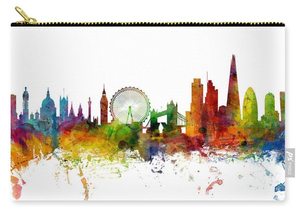 London England Skyline Panoramic Carry-all Pouch