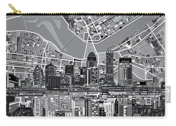 Louisville Kentucky Skyline Abstract 2 Carry-all Pouch