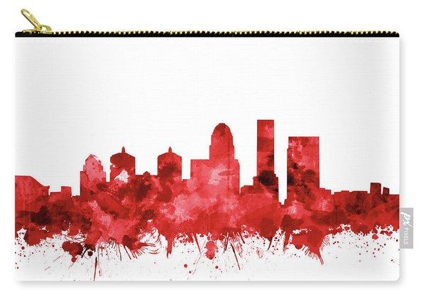 Louisville Kentucky Skyline Watercolor 4 Carry-all Pouch