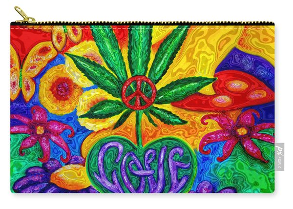 Love And Peace Carry-all Pouch