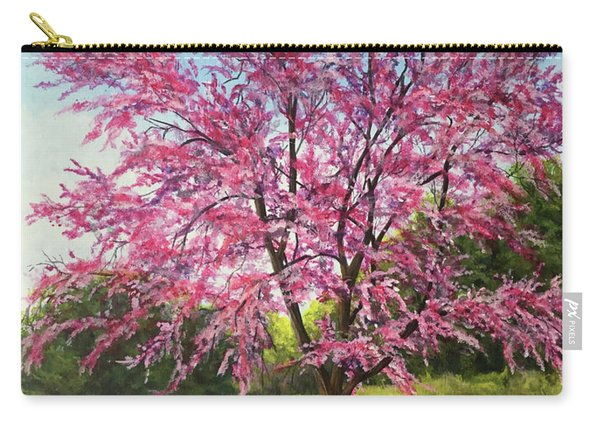 Carry-all Pouch featuring the painting Love Is In The Air by Nancy Cupp