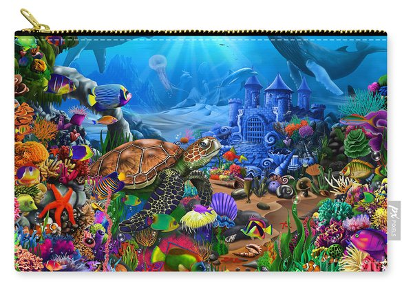 Magical Undersea Turtle Carry-all Pouch