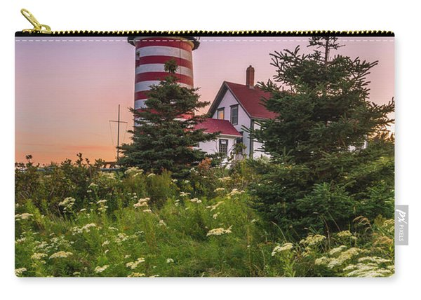 Maine West Quoddy Head Light At Sunset Carry-all Pouch