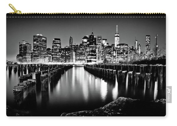 Manhattan Skyline At Night Carry-all Pouch