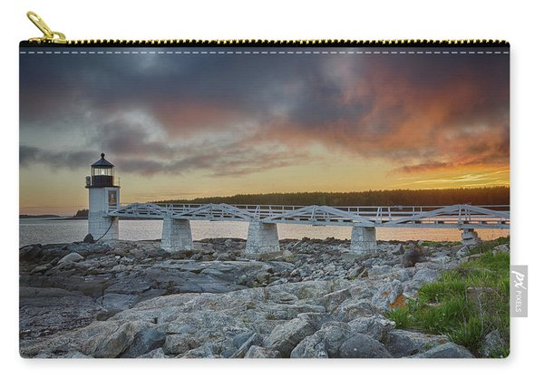 Marshall Point Lighthouse At Sunset, Maine, Usa Carry-all Pouch