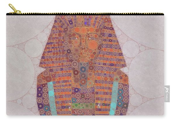 Mask Of Tutankhamun, Pop Art By Mb Carry-all Pouch