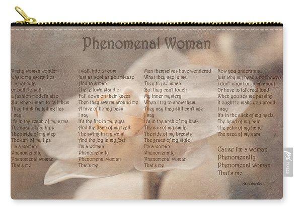 Maya Angelou - Phenomenal Woman  Carry-all Pouch