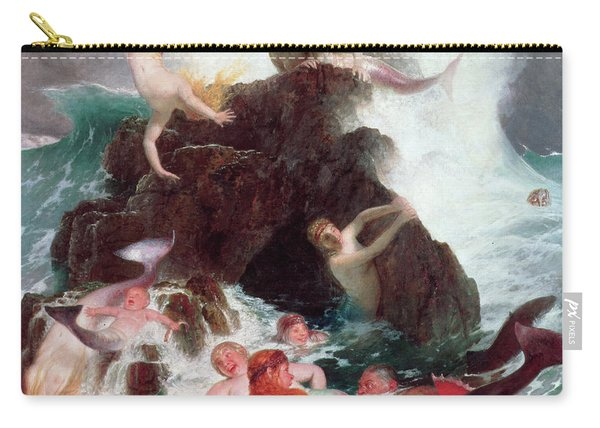 Mermaids At Play  Carry-all Pouch
