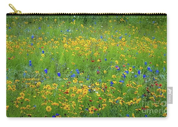 Mixed Wildflowers In Texas 538 Carry-all Pouch