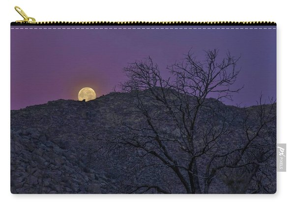 Moon Set At Sunrise Carry-all Pouch
